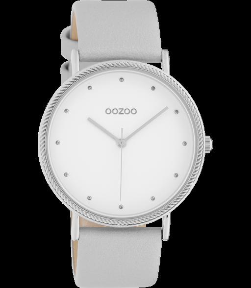OOZOO Timepieceskollektion silver/white c10415