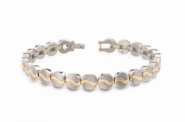 Boccia Armband Titan teil goldplattiert 03023-02
