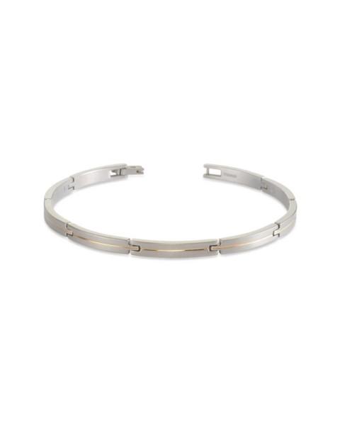 Boccia Armband Titan teil goldplattiert 03017-02